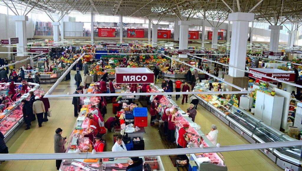 Центральный рынок в Саранске внутри
