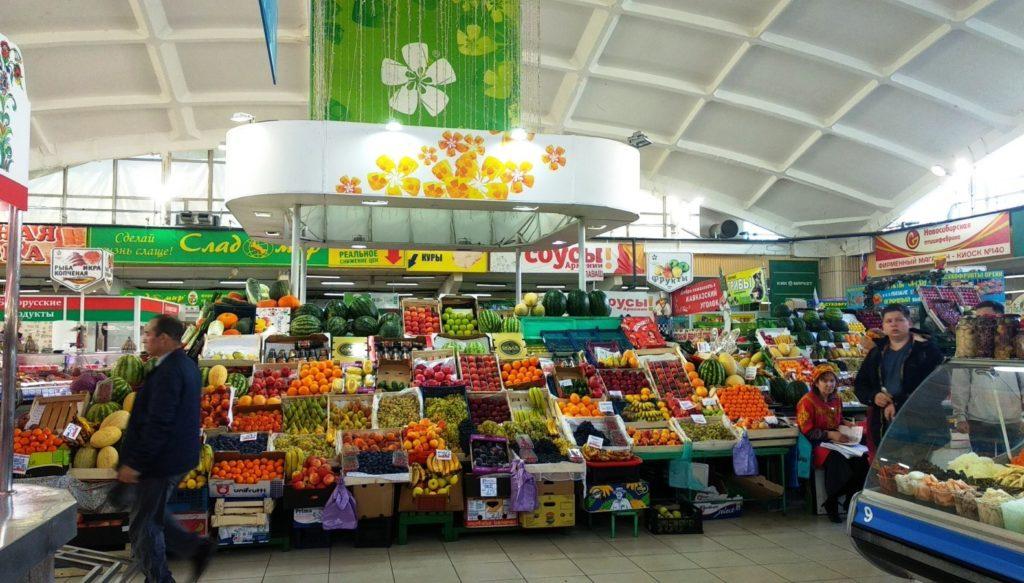 Центральный рынок в Новосибирске изнутри