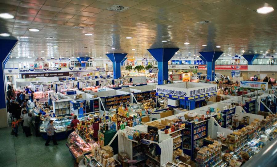 Центральный рынок в Хабаровске внутри