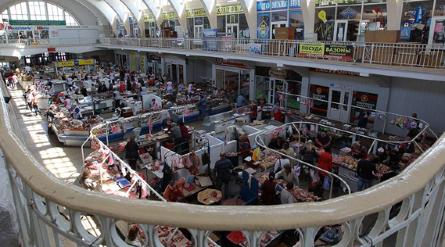 Центральный рынок в Севастополе внутри