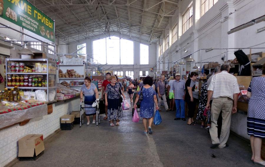 Центральный рынок в Таганроге внутри