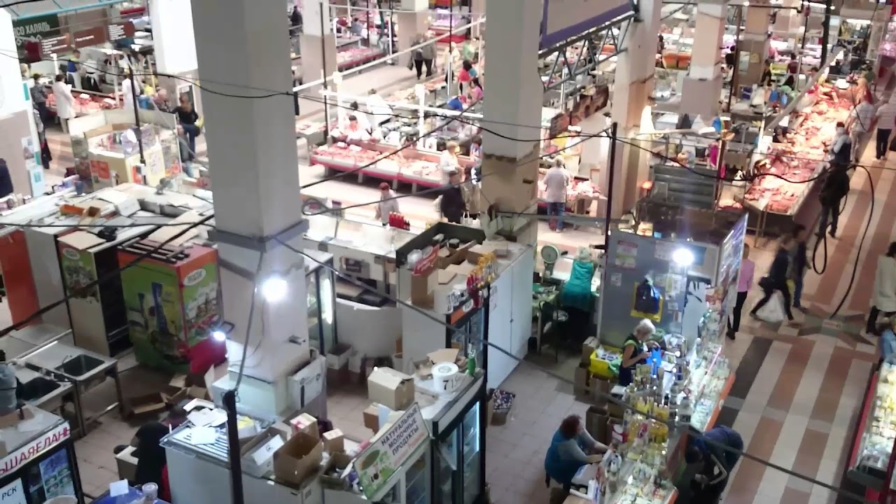 Центральный рынок в Иркутске изнутри