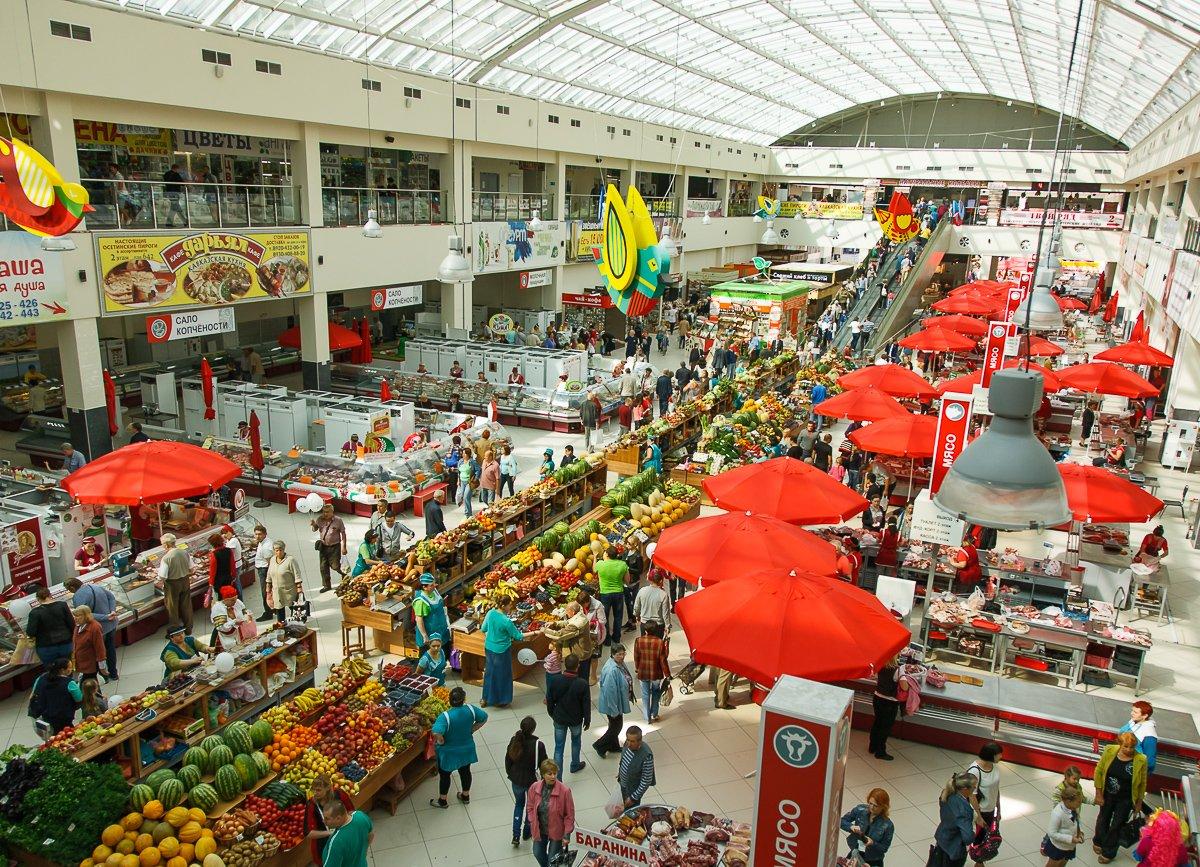 Центральный рынок в Воронеже изнутри