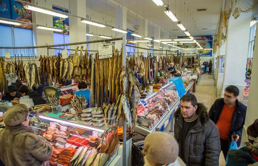 Центральный рынок в Калининграде изнутри